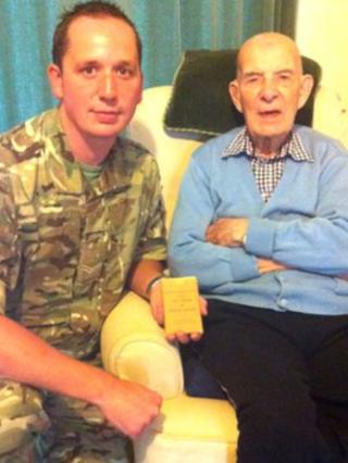 Cpl David Coles and Henry Collins