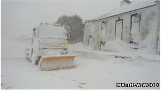 Snow plough in Cumbria. Photo: Matthew Wood