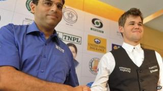 Vishwanathan Anand and Magnus Carlsen - 7 November