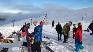 Skiers at Cairngorm