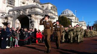 Remembrance Sunday in Cardiff