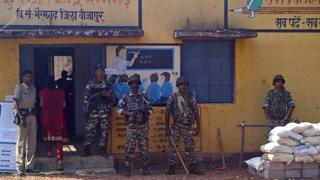 Thousands of troops guarded polling stations in the first phase of Chhattisgarh elections