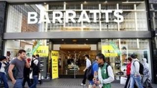 Barratts shoe shop