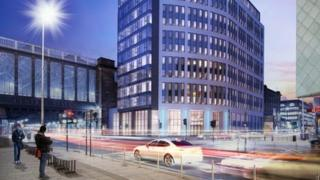 Artist's impression of new hotel