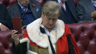 Annabel Goldie is sworn in