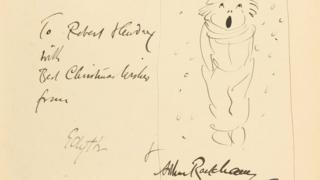 A Christmas Carol signed and inscribed by Rackham