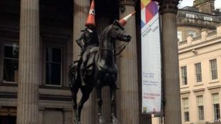Wellington statue in Glasgow