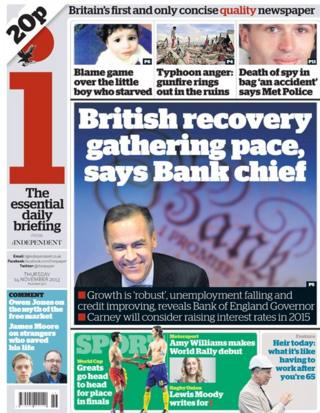 The i, front page, 14/11/13