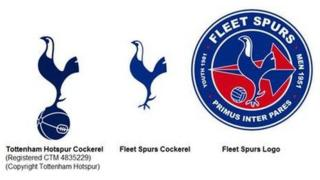 Tottenham Hotspur logo and Fleet Spurs logo