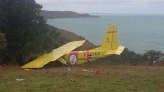 Crashed plane