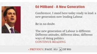 Screengrab from Labour website