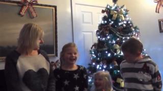 family Christmas scene