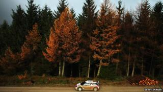 Dani Sordo and Carlos Del Barrio of Spain drive the Citroen DS3 WRC on the qualifying stage
