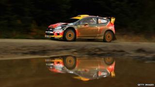 Martin Prokop and Michal Ernst of Czech Republic drive the Jipocar Czech National team car
