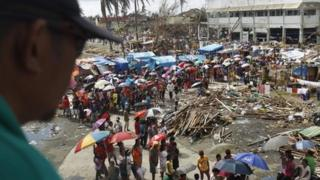 Reports say the cyclone-affected city of Tacloban urgently needs international aid