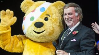 Pudsey Bear with Terry Wogan