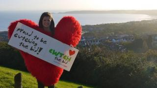 The Cwtch heart in Swansea Bay
