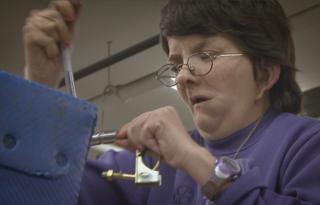 Wanda working in the Lott factory