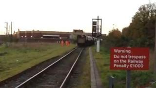 The freight train near King's Lynn