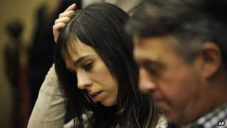 Pianist Laia Martin in court in Girona, Spain (15 Nov. 2013)