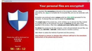 Screen image of cryptolocker