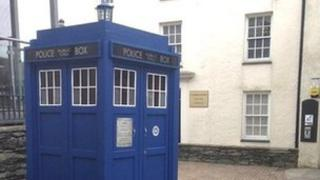 Doctor Who's Tardis in Holyhead