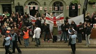 EDL campaigners