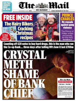 Mail on Sunday front page 17/11/13