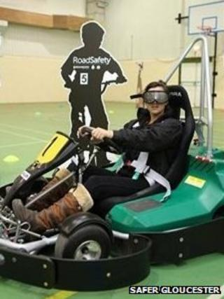 Beer goggle go-karting