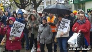 BAE shipyard job cut rally