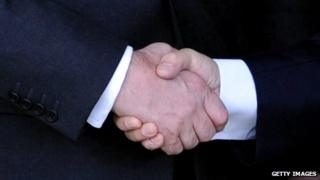 Stock photos of a handshake