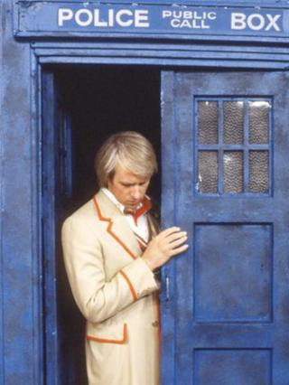 Peter Davison emerges from the Tardis in 1982's Kinda