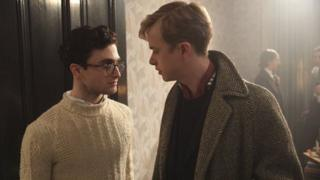 Dane DeHaan [L] as Lucien Carr and Daniel Radcliffe as Allen Ginsberg