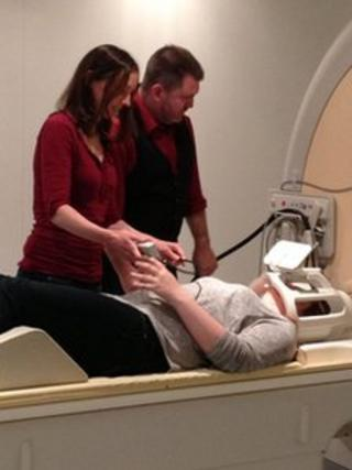 An MRI scanner