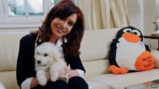 The Argentine president, Cristina Fernandez de Kirchner.
