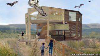 An architect's impression of Dyfi Osprey Project's 360 Observatory