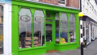 The green shop front in Louth