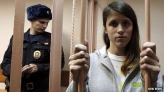 Greenpeace activist Camila Speziale from Argentina in court in St Petersburg, 19 Nov 13
