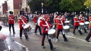Wrexham parade