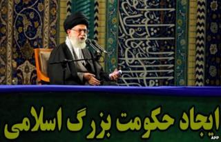 Ayatollah Ali Khamenei addresses Basij militiamen in Tehran (20 November 2013)