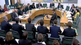 Bankers are questioned by MPs over the Royal Mail share sale on 20 November 2013