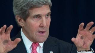 John Kerry speaks at the US State Department in Washington, DC, on November 20.