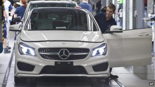 Mercedes being built in Hungarian factory