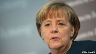 German Chancellor Angela Merkel speaks at the Sueddeutsche Zeitung leadership conference on November 21, 2013 in Berlin, Germany