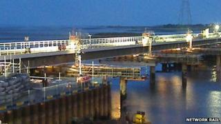 Loughor viaduct nearing completion in April this year