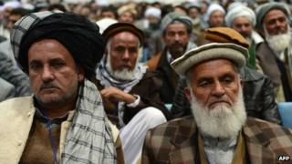 Members of the Afghan loya Jirga