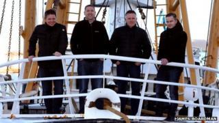 Euan Beaton, Jim Smith Jnr, Andy Scott and Marc Scott