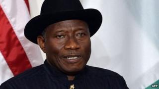 Nigerian President Goodluck Jonathan (file image)