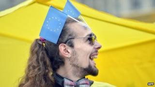 "An activist in the Ukrainian movement ""For European Future"""