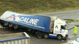 M40 crash scene